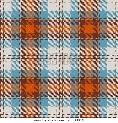 Textured tartan plaid. Seamless vector pattern