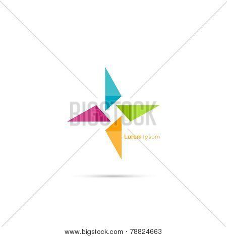 Triangle social beauty  vector logo icon.