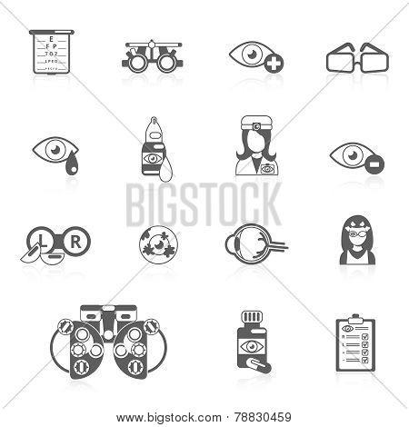 Oculist black icons
