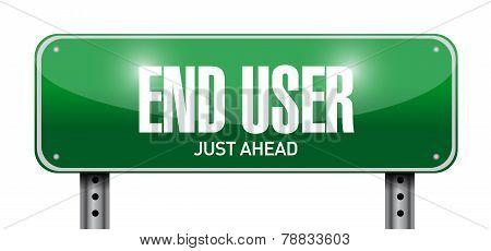 End User Road Sign Illustration Design