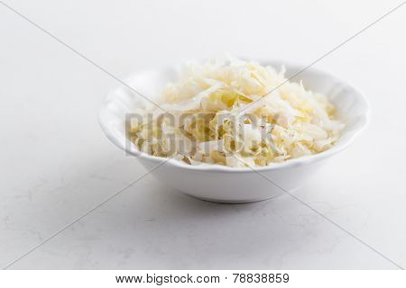Sauerkraut in bowl