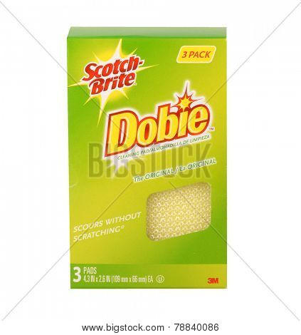 Los Angeles,California Dec10th 2014: Nice Image of a box of dobie Sponges