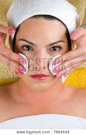 Woman Getting Cleasing Face