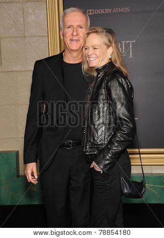 LOS ANGELES - DEC 09:  James Cameron & Suzy Amis arrives to the