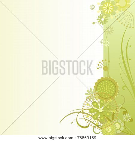 Floral Background In Sulfur