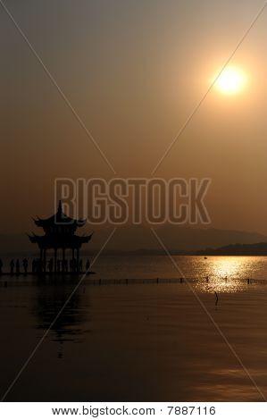 Sunset Over West Lake