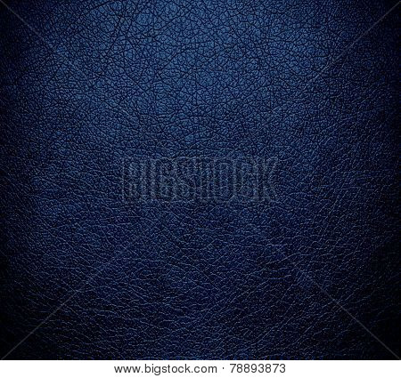 Navy blue leather texture background surface