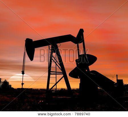 Es la puesta del sol para aceite
