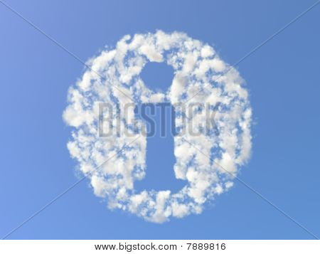Info mark from clouds
