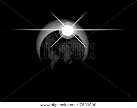 Earth in dark