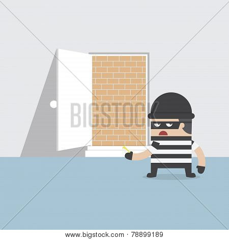 A Thief Cannot Get Through The Safety Door