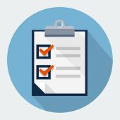 Vector survey flat icon , design element for mobile and web applications, eps 10 poster