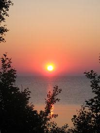 Sunrise over Lake Huron vertical