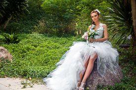 The bride in a garden