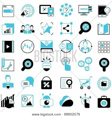advertising and marketing solution icons
