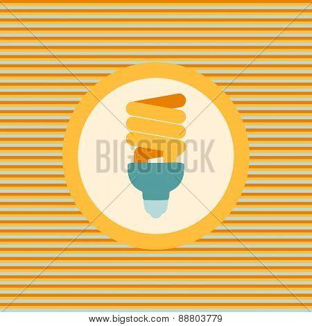 Economical Lamp Color Flat Icon
