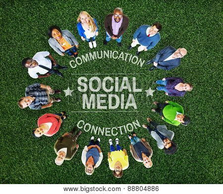 Social Media Communication Connect Socail Network Concept