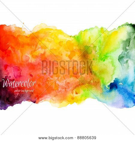Abstract hand drawn watercolor background,vector illustration.