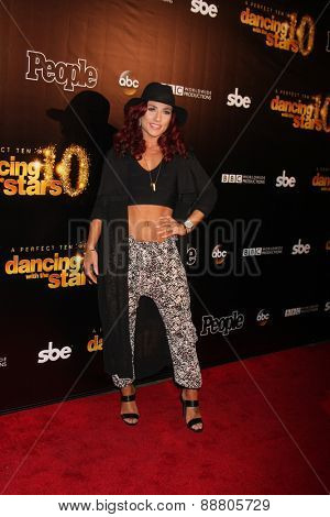 LOS ANGELES - April 21:  Sharna Burgess at the