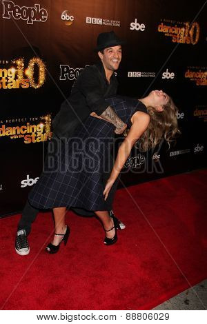 LOS ANGELES - April 21:  Mark Ballas, Willow Shields at the