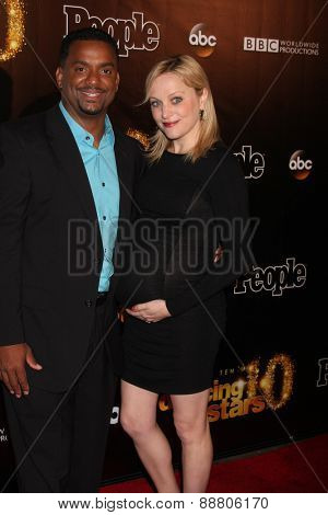 LOS ANGELES - April 21:  Alfonso Ribeiro, Angela Ribeiro at the