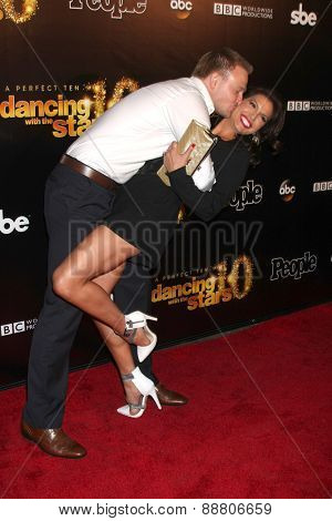 LOS ANGELES - April 21:  Tye Strickland, Melissa Rycroft at the