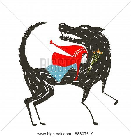 Little Red Riding Hood Fairytale Illustration