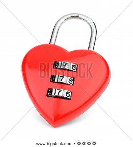 Lock in the shape of a heart