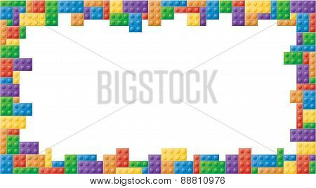 Rectangle Colored Block Picture Frame
