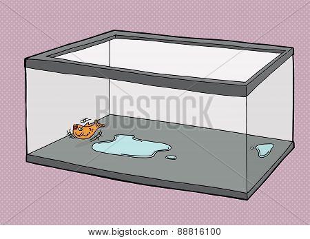 Single Fish Suffocating