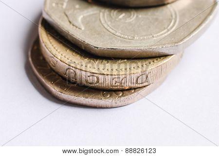 British One-pound Coins