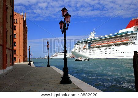 Cruise Liner In Venice