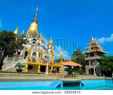 Thai-style Temple In Saigon, Vietnam