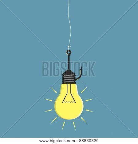 Lightbulb On Fishhook