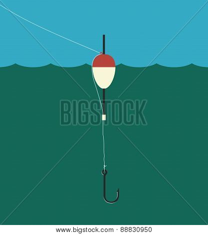 Fishing Float, Lilne, Hook