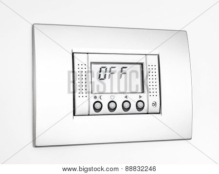 Digital Off Thermostat in white background