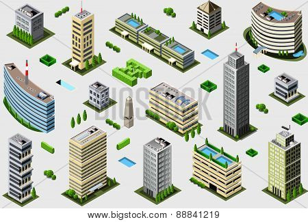 Isometric Megalopolis Building Set