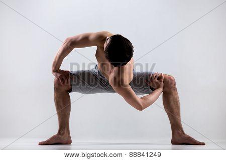 Temple Twist Yoga Pose