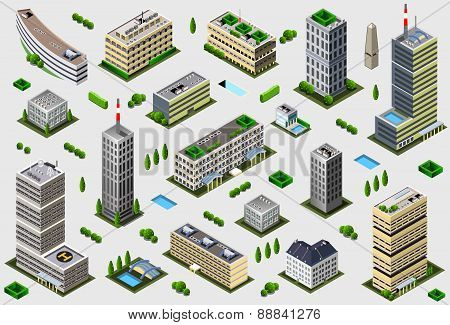 Isometric Megalopolis Building Collection