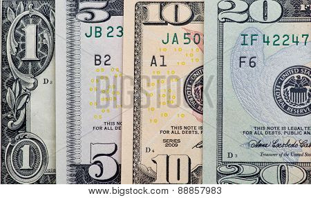 Dollars On White Background