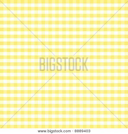 Seamless Gingham, Yellow