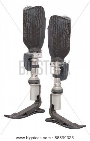 artificial limb under the white background poster