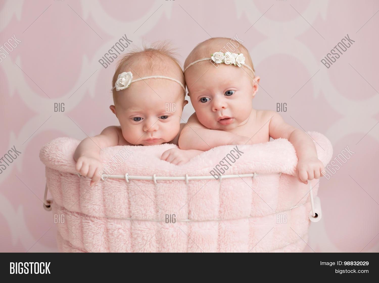 4b49285f3 Twin Baby Girls Image   Photo (Free Trial)