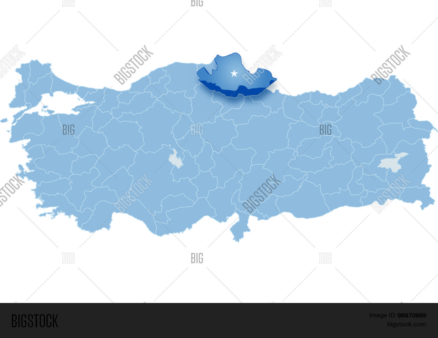 Map Turkey Samsun Vector Photo Bigstock