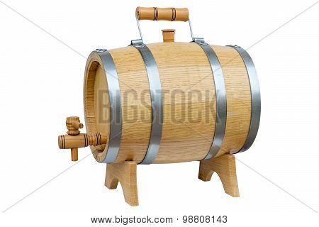 Wooden Barrel For Wine.