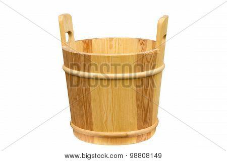 Wooden Bucket For A Sauna.