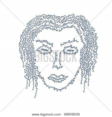 Cyborg Female Face