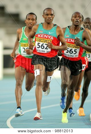 BARCELONA - JULY, 10: Philemon Kipchilis Cheboi of Kenya during 10000m event of the 20th World Junior Athletics Championships at the Stadium on July 10, 2012 in Barcelona, Spain