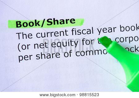 Book/share