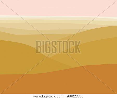 Desert Sunrise view from mountains illustration